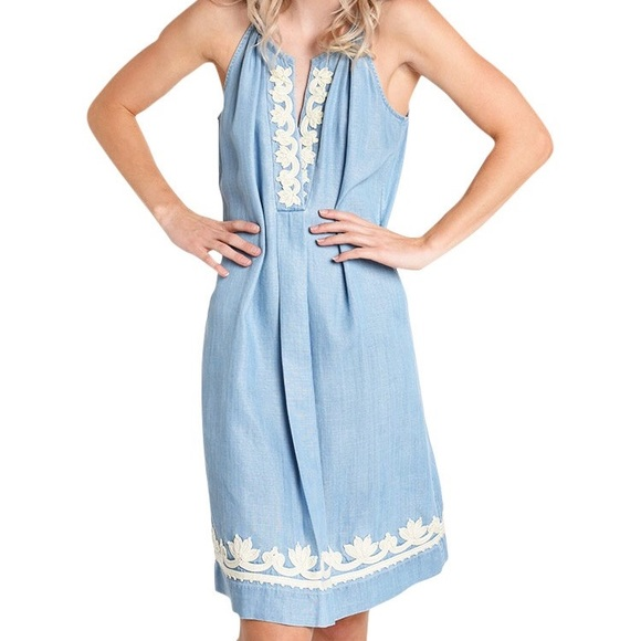 tommy bahama chambray dress